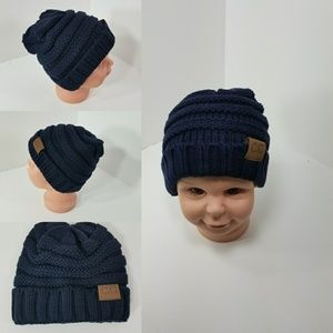 Other - Baby Beanie hats thermal protective Dark Navy Blue